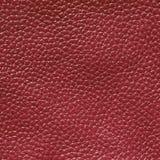 Textura do couro da cor de Borgonha Imagem de Stock Royalty Free