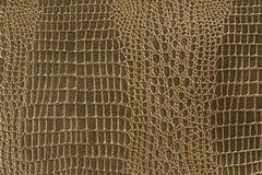 Textura do couro do ouro amarelo Fotos de Stock Royalty Free