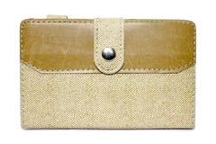 Textura do couro do saco de Brown Fotos de Stock