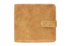 Textura do couro do saco de Brown Fotografia de Stock Royalty Free