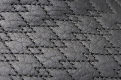Textura do couro e do ponto Fotografia de Stock