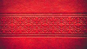 Textura do couro vermelho Imagens de Stock Royalty Free