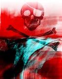 Textura do crânio Imagens de Stock Royalty Free