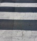 Textura do cruzamento de zebra Vista abstrata das cortinas foto de stock