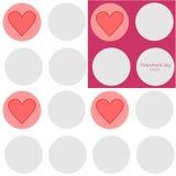 Textura do dia de Valentim Foto de Stock