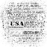Textura do Estados Unidos da América do Grunge Fotografia de Stock