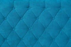 Textura do estofamento azul Fotos de Stock