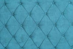 Textura do estofamento azul Fotografia de Stock