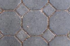 Textura do fim do assoalho do teste padrão da pedra do tijolo acima foto de stock