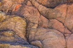 A textura do fim da rocha acima Imagens de Stock Royalty Free