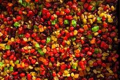 Textura do fruto cristalizado Fotografia de Stock