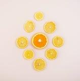 Textura do fruto Fundo de vários frutos cortados Fotografia de Stock Royalty Free