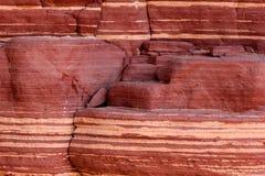 Textura do fundo do arenito vermelho Fotografia de Stock Royalty Free