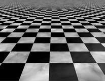 Textura do fundo do assoalho telhado do tabuleiro de xadrez ilustração stock