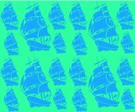 Textura do fundo com veleiros Fotografia de Stock
