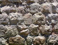 Textura do fundo da alvenaria da era de Herodian, cidade velha de Jerusa Foto de Stock