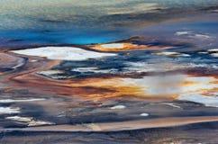Textura do fundo da bacia da porcelana em Yellowstone fotografia de stock