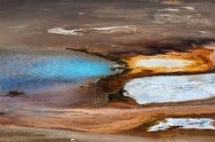 Textura do fundo da bacia da porcelana em Yellowstone imagens de stock royalty free