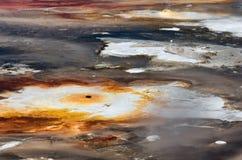 Textura do fundo da bacia da porcelana em Yellowstone imagens de stock
