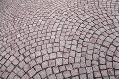 Textura do fundo da estrada do cobblestone Imagens de Stock