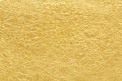 Textura do fundo da folha de ouro Foto de Stock