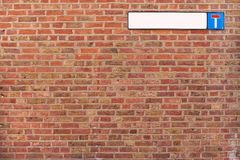 Textura do fundo da parede de tijolo do beco sem saída Imagem de Stock Royalty Free