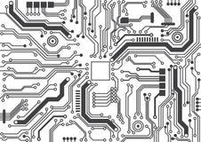 Textura do fundo da placa de circuito ilustração stock