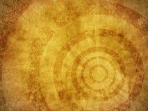 Textura do fundo de Grunge com círculos concêntricos Imagem de Stock