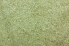 Textura do fundo de Olive Green Bathroom Towel Textile para o projeto foto de stock