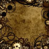 Textura do fundo de Steampunk Fotos de Stock Royalty Free