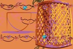 A textura do fundo do cartão do mandril felicita o vetor do jardim ilustração stock
