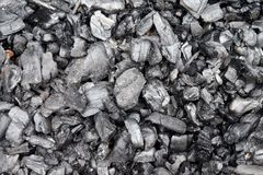 Textura do fundo do carvão vegetal Fotos de Stock
