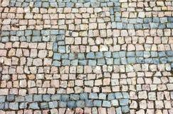 Textura do fundo do Cobblestone Foto de Stock Royalty Free