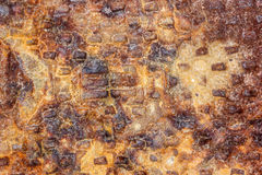 Textura do fundo do metal da oxidação Fotos de Stock Royalty Free
