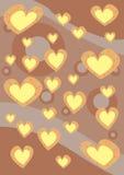 Textura do fundo dos corações Imagens de Stock Royalty Free