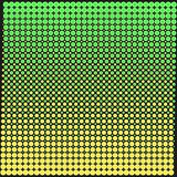 Textura do fundo dos pontos com um verde do inclinação e amarelo no preto Ilustração à moda do vetor para o design web ilustração do vetor