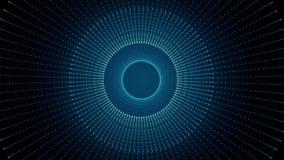 Textura do fundo do túnel de Sci fi Mover-se abstrato da textura do fundo Animação da tecnologia futurista da fantasia espaço ilustração do vetor