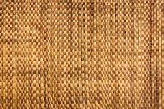 Textura do fundo tailandês nativo da esteira do carriço do weave do estilo - feito do papiro Fotografia de Stock