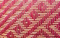 A textura do fundo tecido do sumário do rattan foto de stock royalty free
