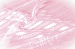 Textura do fundo, teste padrão Tela de seda cor-de-rosa com uma tira clara imagem de stock