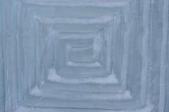 A textura do gelo com testes padrões impressos Fotos de Stock Royalty Free