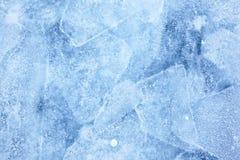 Textura do gelo de Baikal Fotos de Stock Royalty Free