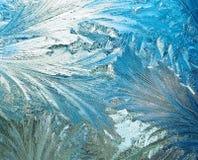 Textura do gelo no vidro imagem de stock