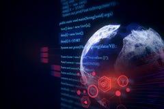 Textura do globo do HTML fotografia de stock