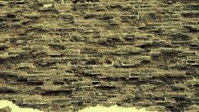 Textura do Grande Muralha da cidade antiga Resistência da alvenaria video estoque