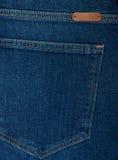 Textura do grunge da sarja de Nimes Close-up das calças de brim Foto de Stock Royalty Free