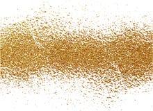 Textura do grunge do ouro para criar o efeito afligido Elementos dourados do risco da pátina Ilustração abstrata do vintage Fotografia de Stock