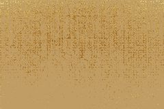 Textura do grunge do ouro para criar o efeito afligido Elementos dourados do risco da pátina Ilustração abstrata do vintage Fotografia de Stock Royalty Free