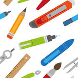 Textura do grupo estacionário colorido no estilo liso Imagens de Stock