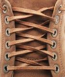 Textura do laço da sapata fotografia de stock royalty free